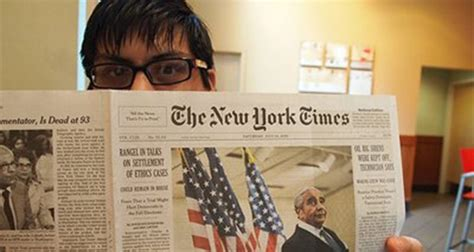 New York Times Tuesday Science Section by Student Picks Up Unique Viewpoint From World S Most Widely
