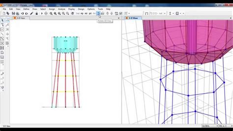 sap2000 structural modeling of elevated water tank