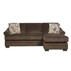 Simmons 174 sunflower brown sofa with reversible chaise big