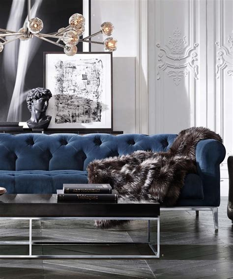 blue sofa living room design 17 best ideas about chesterfield living room on