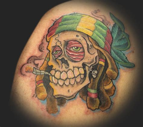 tattoo now rasta skull by rowe tattoonow image gallery rasta