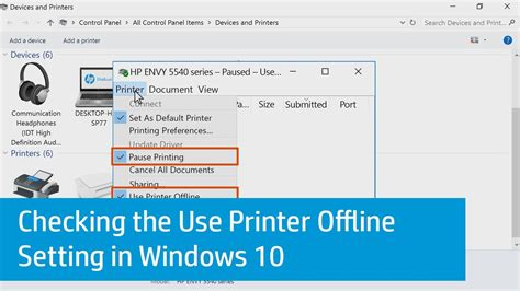 Why Is My Printer Offline | checking the use printer offline setting in windows 10