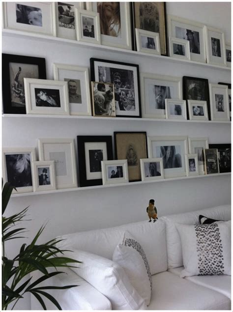 gallery wall but change put shelf in middle and pictures bucks county houses apartments i like blog