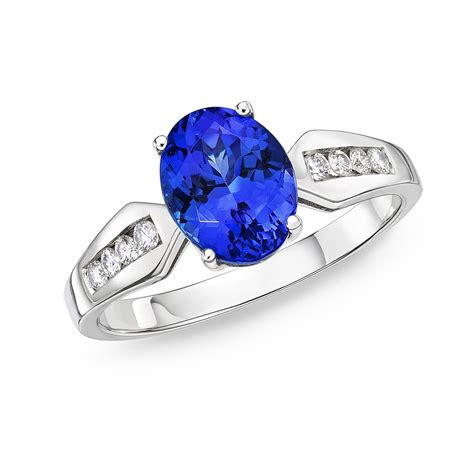 Tanzanite Rings by Eclipse 2 00 Ct Rich Blue Tanzanite Ring