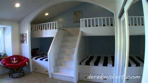 custom quad bunk bed bel aire youtube