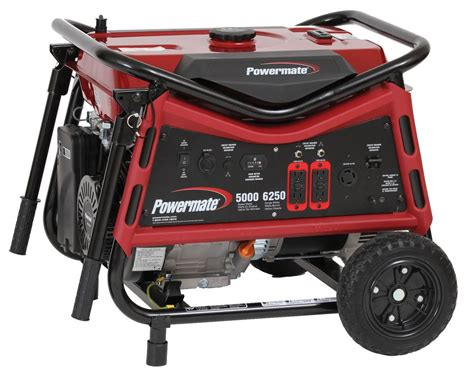 powermate powermate 5000 watt portable generator the