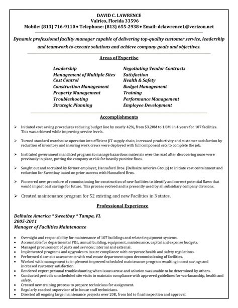 Resume For Building Maintenance Resume 10 building maintenance resume exles resume facility