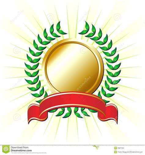 cinta con la corona del laurel ilustraci 243 n del vector