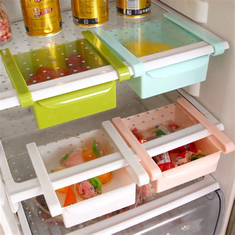 plastic pull out drawer organizer high quality multifuction plastic kitchen refrigerator