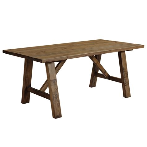 rustic trestle dining table cotswold rustic trestle dining table