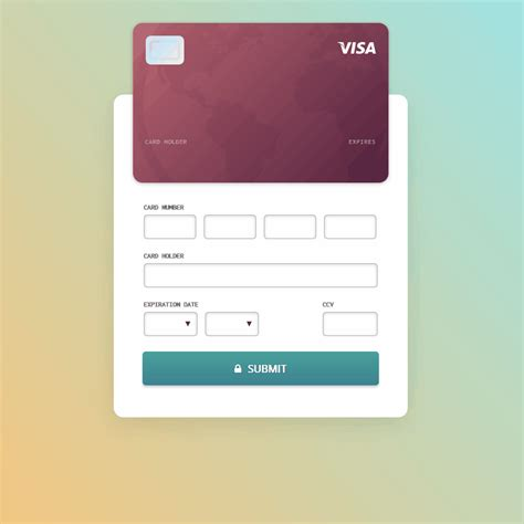 Credit Card Checkout Template by Credit Card Checkout Form Coding Fribly