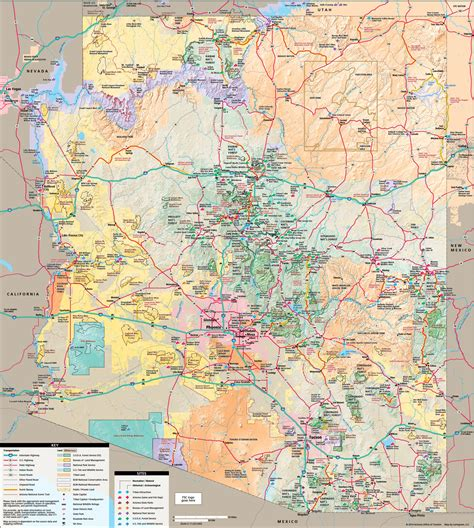 arizona tourist map arizona tourist map