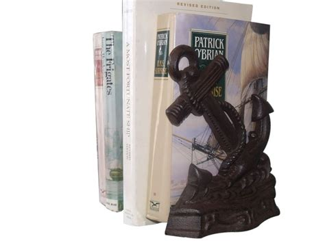 buy set of 2 rustic cast iron anchor book ends 8 inch