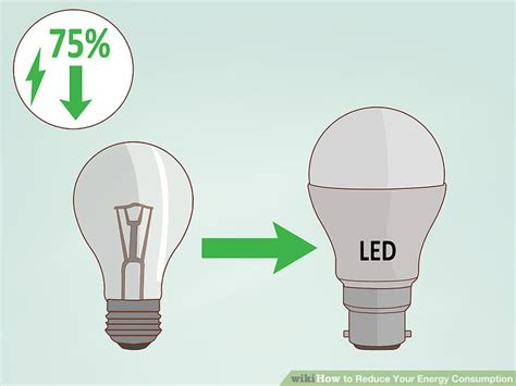 led lights reduce energy consumption 3 ways to reduce your energy consumption wikihow