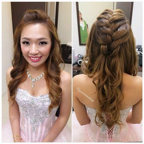 hairstyles for normal party wedding dinner makeup hairdo princess braided wavy