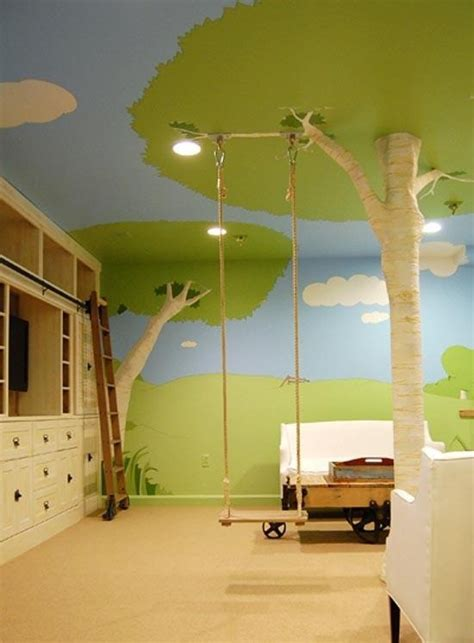 cool swings for trees kids room play room idea home play space pinterest