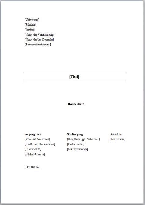 seminararbeit layout word deckblatt gestalten bachelorarbeit hausarbeit