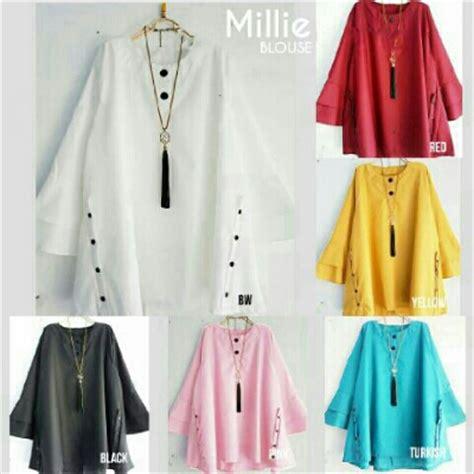 Baju Atasan Unik beli baju atasan millie blouse bahan katun unik http