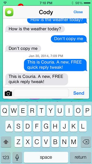 themes whatsapp cydia couria jailbreak tweak adds quick reply compose to ios 7