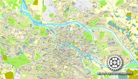 e plans com wroclaw poland printable vector street map city plan