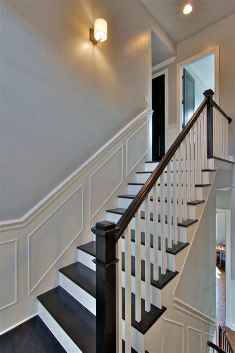 wainscotting stairs photo page hgtv