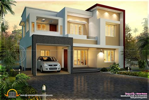 flat roof houses design modern flat roof house in 1820 square feet kerala home design and floor plans