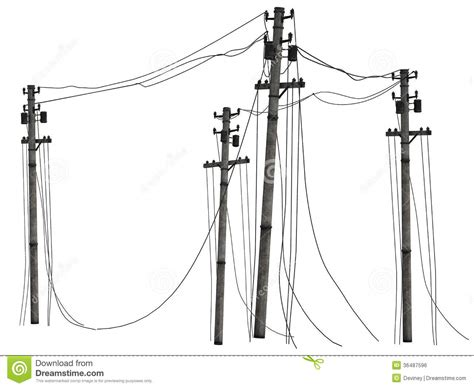 group of telephone poles stock illustration image of