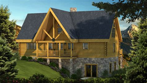 adirondack home plans targhee log cabin home rustic luxury cabins plans ideas