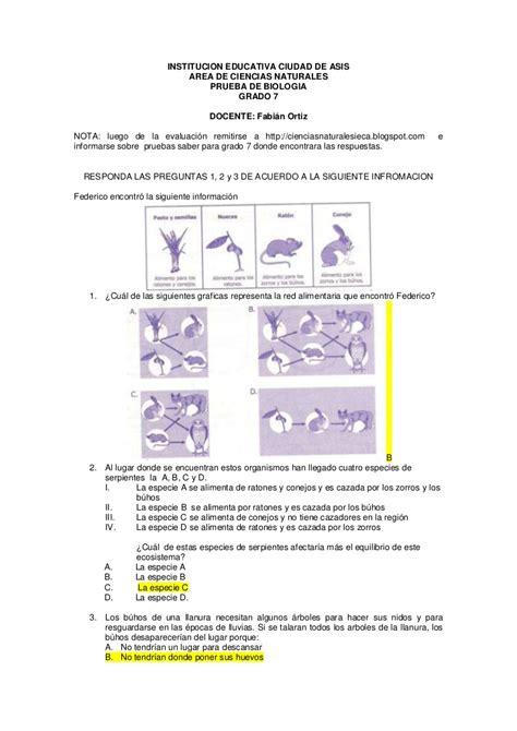 preguntas y respuestas tipo icfes de sociales evaluacion tipo icfes biologia 7