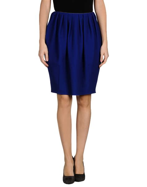 gianluca capannolo knee length skirt in blue lyst