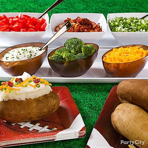 potato bar toppings idea baked potato bar idea party city