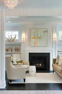 Living Room Sconces Orange And Gray Abstract Fireplace With Shelves