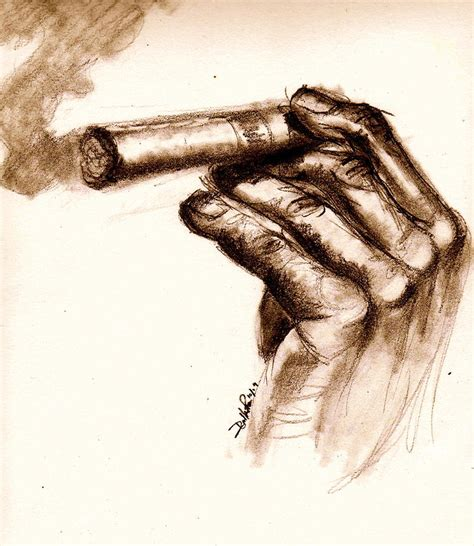 Cool Duvet Cover Cigar Drawing By Dallas Roquemore