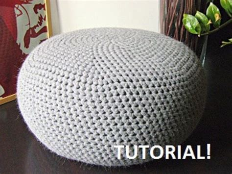 tutorial for xl crochet pattern diy tutorial xl large crochet pouf poof