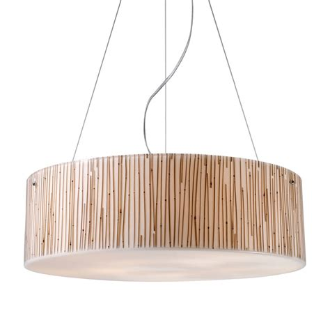 Bamboo Pendant Light Modern Organics Five Light Pendant With Bamboo Stem