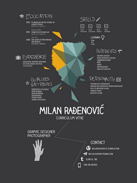 42 best inspiration cv design images on