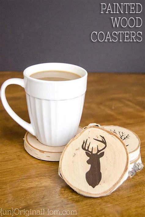 Painting Handmade - diy painted wood slice coasters unoriginal