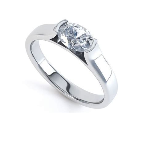 Sideways Oval East West Engagement Ring