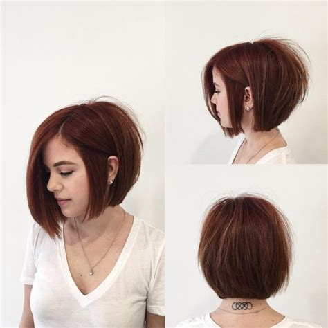 short soft layered brunetts hair cuts women s brunette angled bob with large soft curls and side