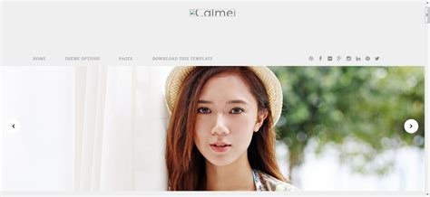 calmer fashion blogger template free download get any