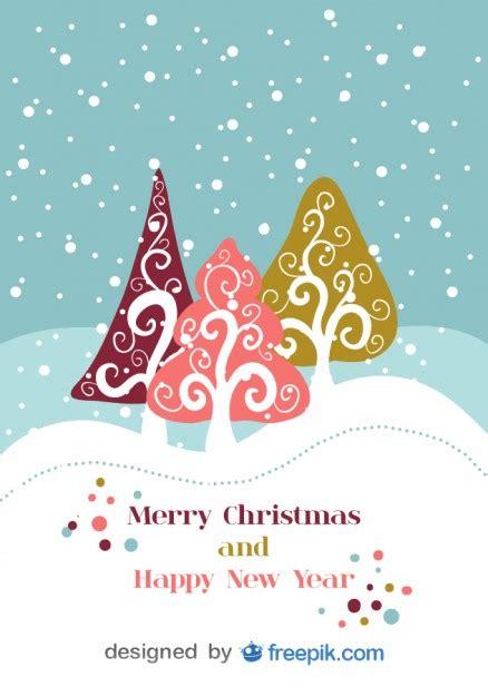 imagenes navidad vectores gratis dise 241 o de postal de navidad retro vectorial descargar