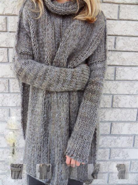 Mock Neck Chunky Knit Sweater chunky knit mock neck grey sweater kreativ