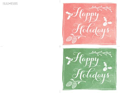 printable cards happy holidays falala designs happy holidays mini cards