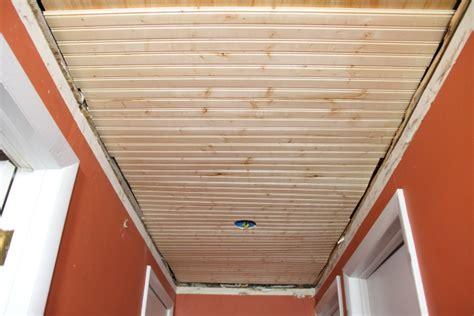 installing beadboard ceiling drywall beadboard ceiling for the downstairs hallway