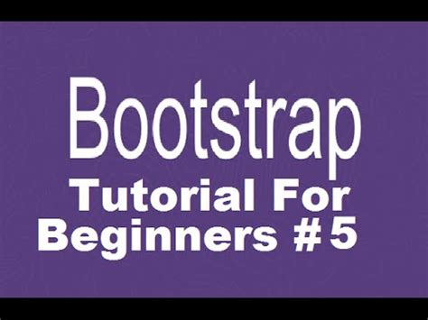 bootstrap tutorial step by step for beginners bootstrap tutorial for beginners 5 creating responsive
