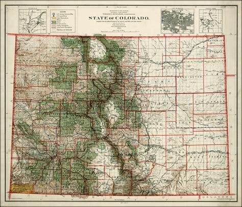 State Of Colorado Records Antique Maps Of Colorado