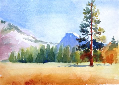 watercolor tutorial mountains watercolor landscape painting 5 step tutorial