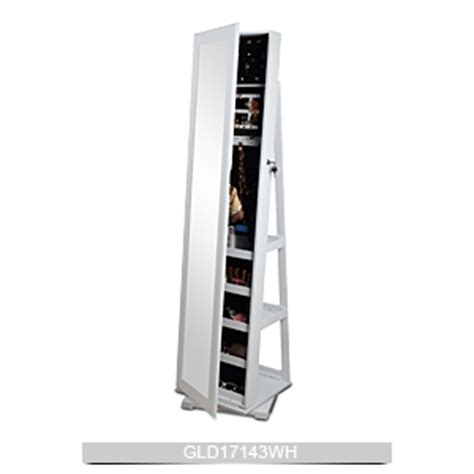 rotating jewelry armoire rotating multiple function wooden mirror jewelry cabinet