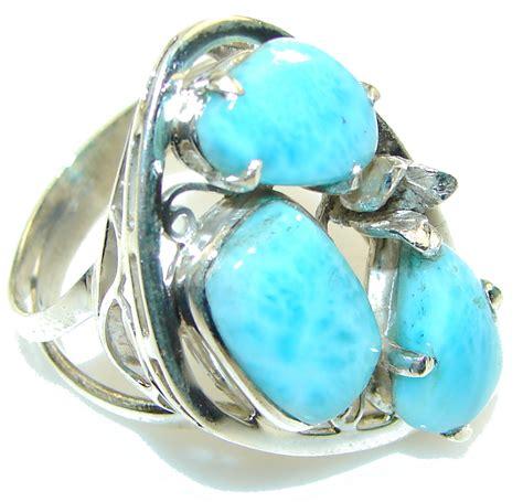 secret light blue larimar sterling silver ring s 10