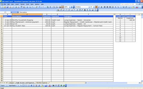 business expenses spreadsheet expense template for small business